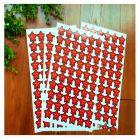国产 皇冠五角星 儿童奖励贴纸 红色 100张/包