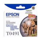 爱普生(EPSON) T0491黑色/T0492青色 /T0493红色 /T0494黄色 /T0495浅青色 /T0496浅红色墨盒墨盒  (适用于R210 R230 R310 R350 RX510 RX630 RX650)
