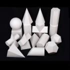 国产 T16 23*11cm 几何斜柱素描石膏像 白色(单位:个)